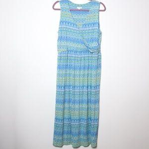 J Jill | Printed Wrap Maxi Dress L